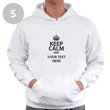 Keep Calm & Add Your Text Custom Hooded Sweater S