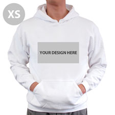 Personalized Hoodies Custom Landscape Image & Text White Without Zipper Extra Small Size