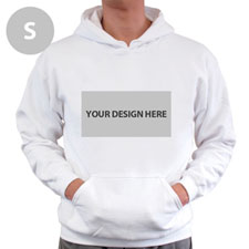 Personalized Custom Landscape Image & Text White Without Zipper Small Size Hoodies