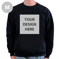 Design Your Own Personalized Photo Black M Sweatshirt