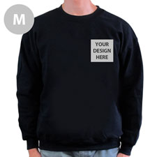 Personalized Print Your Logo Black Sweatshirt, M