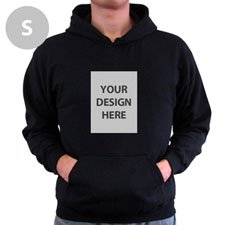Personalized Custom Portrait Black Small Size Hoodies