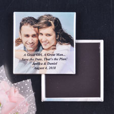 Transparent Overlay Wedding Announcement