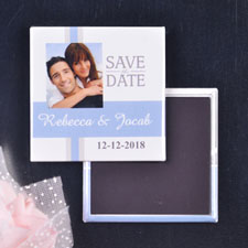 Aqua Gray Wedding Save the Date
