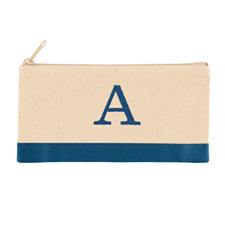 2 Tone Blue Personalized Embroidered One Initial Small (Single Side)