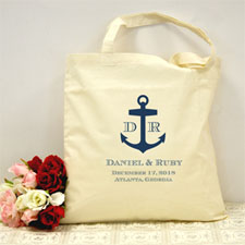 Personalized Navy Blue Nautical Anchor