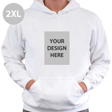 Custom Printed Full Photo White Sweatshirt, 2XL