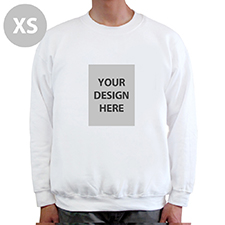 Custom Portrait Image Personalized White Sweatshirt, XS