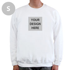 Gildan Personalized Photo White Sweatshirt