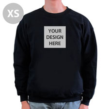 Design Your Image & Text Below Black Xs Sweatshirt