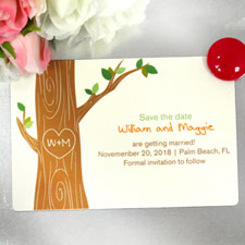Oak Tree Personalized Wedding Love Photo Magnets