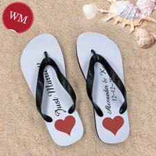 Create My Own Personalized Love Message Women Medium Flip Flop Sandals