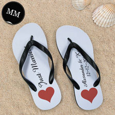 Design My Own Personalized Love Message Men Medium Flip Flop Sandals