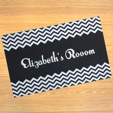Personalized Black Chevron