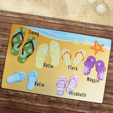 Personalized Flip Flops Family Welcome