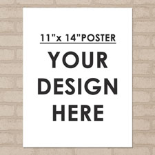 Photo Poster Print Single Image 11X14