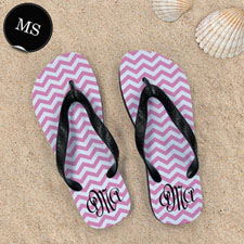 Pink Chevron Pattern with Personalized Name  , Men Small