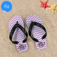 Pink Chevron Pattern with Personalized Name   Kids Small