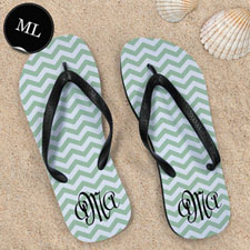 Aqua Chevron Pattern with Personalized Name , Men Large_copy