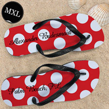 Red Polka Dot Personalized Name(Men's X-Large)