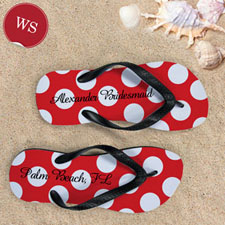 Red Polka Dot Personalized Name (Women's Small)