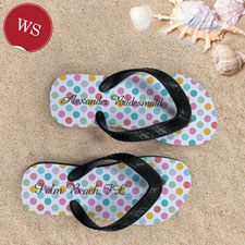 Personalized Bridesmaids Flip Flops (Women's Small)_copy