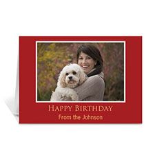 Classic Red Photo Birthday Cards, 5x7 Folded