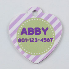 Purple and Lime Stripe Heart (Custom 1 Side)