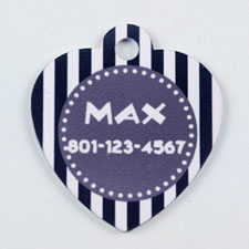 Black and Gray Striped Heart (Custom 1 Side)