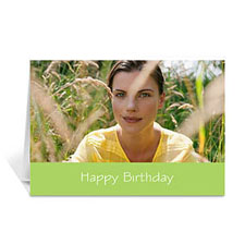 Birthday Lime Photo Cards, 5x7 Folded Simple