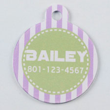 Purple and Lime Striped Round (Custom 1 Side)