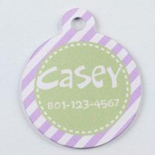 Purple and Lime Stripe Round (Custom 1 Side)