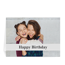 c White Photo Birthday Cards, 5x7 Folded Causal