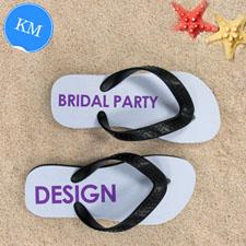 Design My Own Bridal Party Kids Medium Flip Flops