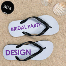 Design My Own Bridal Party Men Medium Flip Flop Sandals