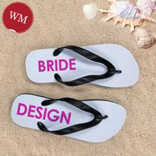 Design My Own Bride Design Women Medium Flip Flop Sandals