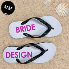 Design My Own Bride Design Men Medium Flip Flop Sandals