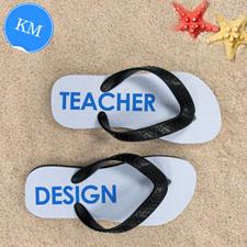 Design My Own Teacher Design Kids Medium Flip Flops
