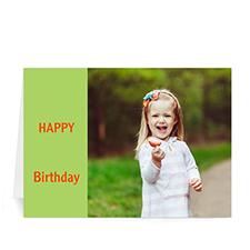 Birthday Lime Photo Cards, 5x7 Folded Modern