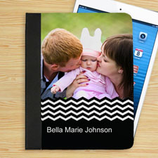 Black Chevron Personalized Photo