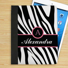 Black Zebra Pattern Personalized Name