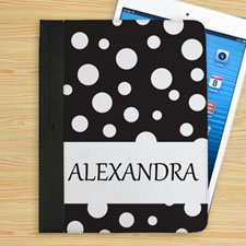 Personalized Name Black Polka Dot
