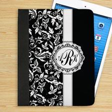Black Damask Personalized Monogram