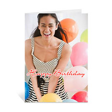 Happy Birthday Photo Cards, 5x7 Portrait Folded