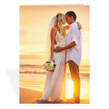 Wedding Photo Cards, 5x7 Portrait Folded