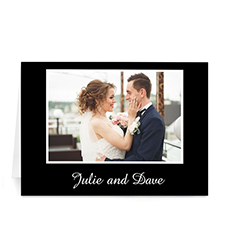 Classic Black Photo Wedding Cards, 5x7 Folded
