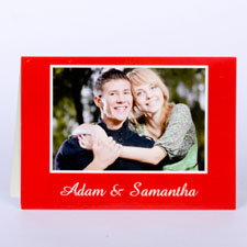 Classic Red Photo Wedding Cards, 5x7 Folded
