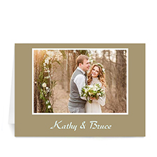 Gold Photo Wedding Cards, 5x7 Folded