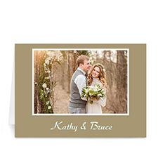 Gold Photo Wedding Cards, 5x7 Folded