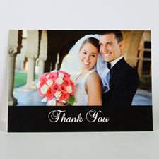 Classic Black Wedding Photo Cards, 5x7 Folded Simple